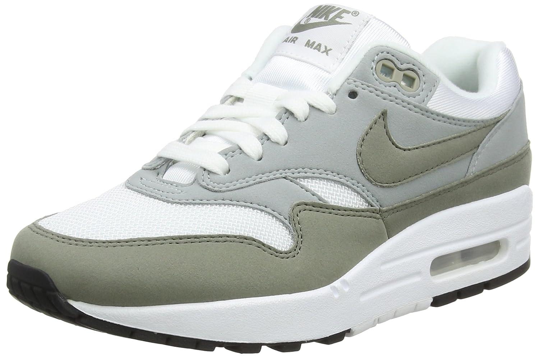 Nike Wmns Air MAX 1, Zapatillas de Gimnasia para Mujer 41 EU|Multicolor (Blanco/Piedra Pómez Claro/Negro/Estuco Oscuro 105)