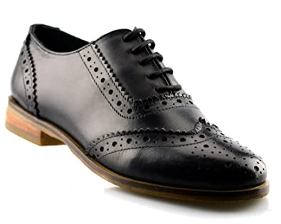 22f98270f Mod Comfys Ladies Womens Girls Leather Office Work School Lace Up Brogues  Shoe Size 3-8: Amazon.co.uk: Shoes & Bags