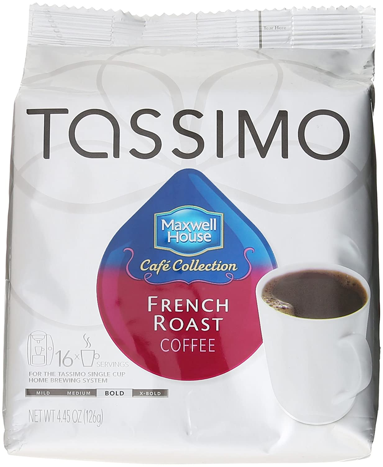 Tassimo Cafe Collection French Roast, T-Discs, 16 ct: Amazon ...