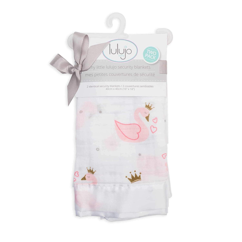 Lulujo Lulujo Swan Security Blankets Muslin Cotton