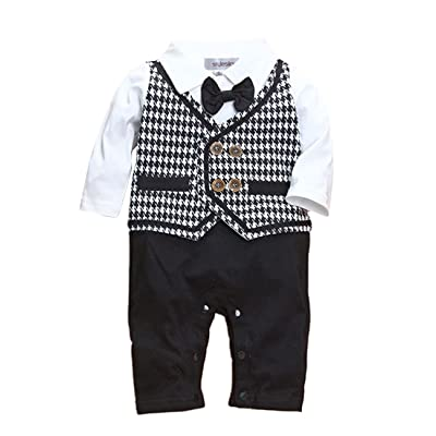 daf9aff0e19d stylesilove Newborn Infant Toddler Baby Boy Long Sleeve Wedding ...