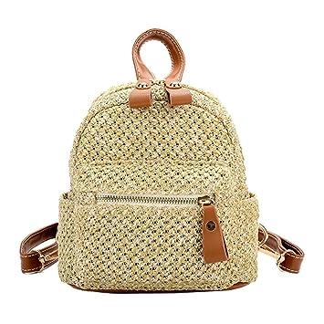 Mochila de paja, bolso hueco de la playa de la armadura de la manera, mini bolso de hombro de las mujeres de Beatie: Amazon.es: Bricolaje y herramientas