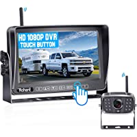 """Rohent R12 FHD 1080P Digital Wireless Backup Camera with 7"""" Touch Key DVR Split Screen Monitor High-Speed Observation…"""