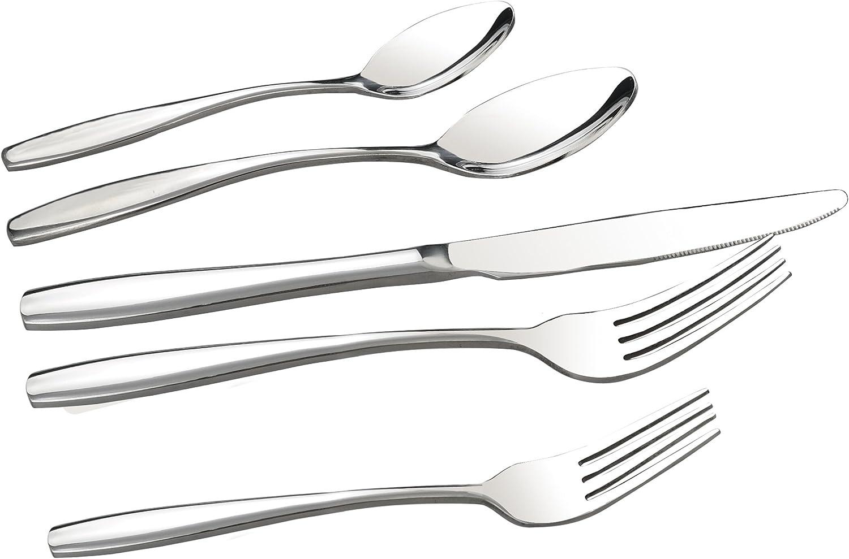 Ggbin 50-Piece Stainless Steel Flatware Silverware Set, Service for 10