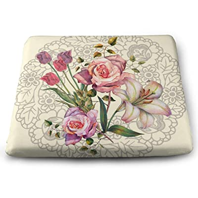 Sanghing Customized Watercolor Bouquet Flowers On A Background Napkin 1.18 X 15 X 13.7 in Cushion, Suitable for Home Office Dining Chair Cushion, Indoor and Outdoor Cushion.: Home & Kitchen