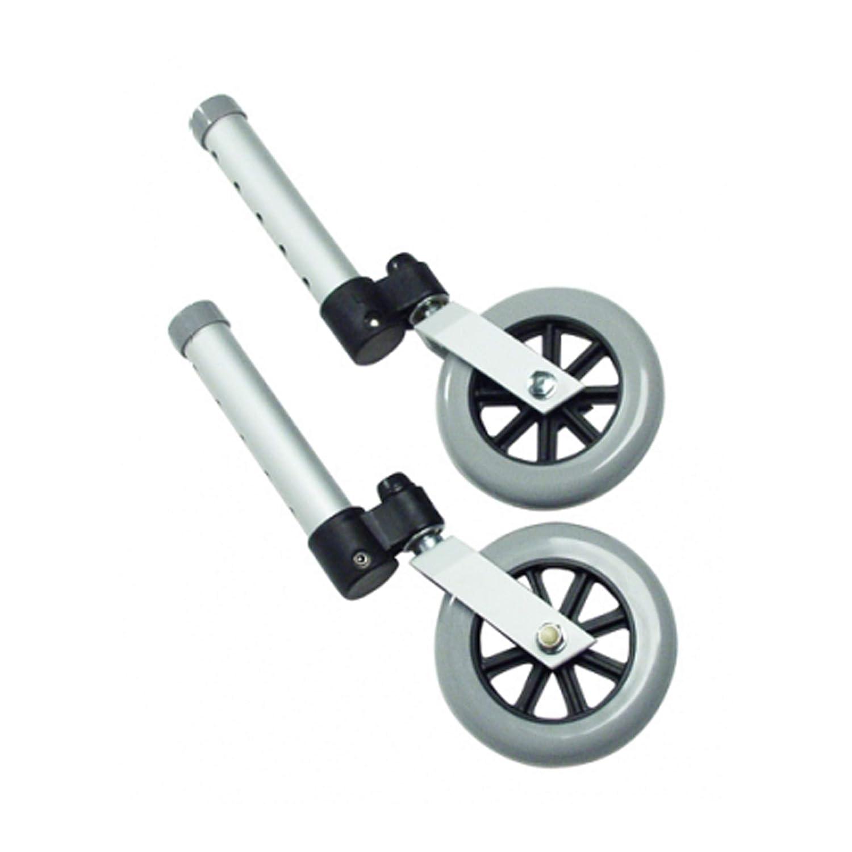 "Lumex 603850A Swivel Walker Wheel, 5"" Diameter, Aluminum (Pack of 2): Industrial & Scientific"