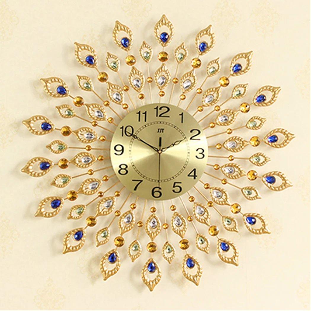 【UNUSUAL】壁時計 掛け時計 大人気 豪華 ウォールクロック 音しない インテリア掛時計 西洋北欧風 おしゃれな時計 アンティーク調 壁掛式 ディズニー アクセサリー ポーチ付き B01JLSAD3A