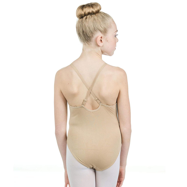 Danzcue Girls Camisole Undergarment Leotard With Adjustable Straps