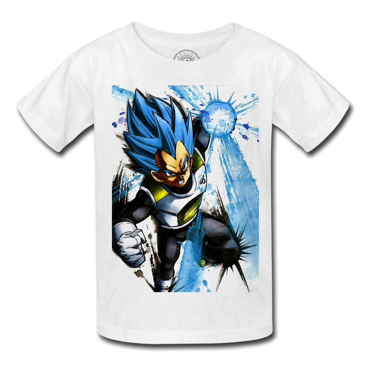 Vêtements, Accessoires Cheap Price T-shirt Enfant God Goku Dragon Ball Super Cheveux Bleu Sangoku Dbz Manga Enfants: Vêtements, Access.