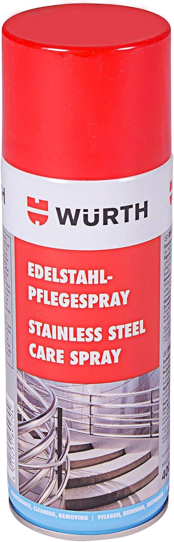 Würth Edelstahl Pflegespray 400ml Edelstahlreiniger Pflege Spray Küche Haushalt