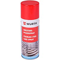 Würth Roestvrijstalen verzorgingsspray 400 ml roestvrij stalen reiniger verzorging spray