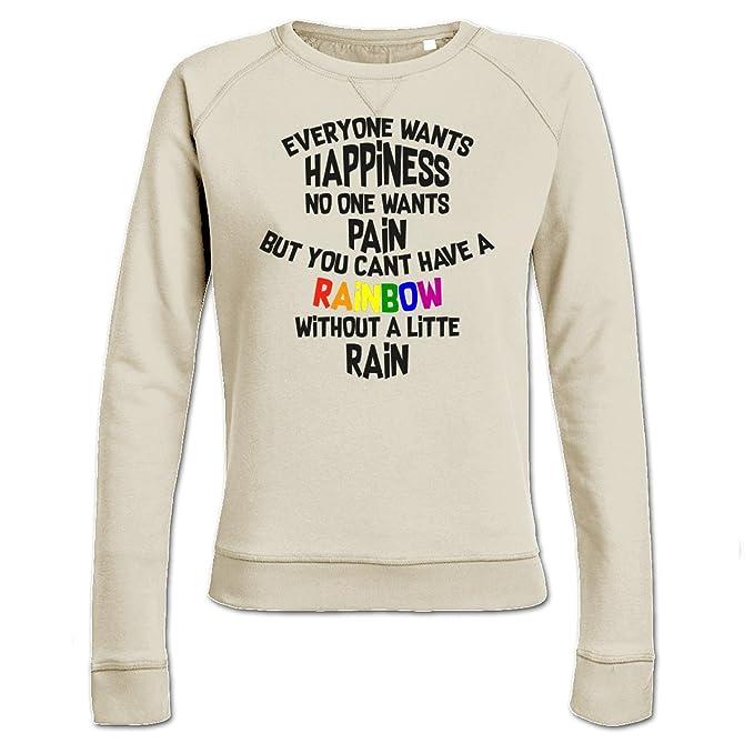 Sudadera de mujer Everyone Wants Happiness by Shirtcity: Amazon.es: Ropa y accesorios