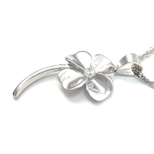 Good Luck Four Leaf Clover Pendant Necklace