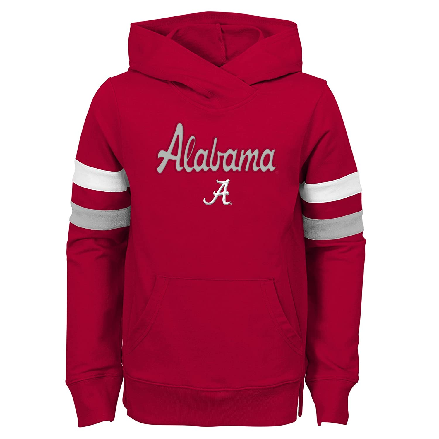 Youth Medium NCAA Alabama Crimson Tide Girls Outerstuff Claim To Fame Overlay Hoodie Team color 10-12