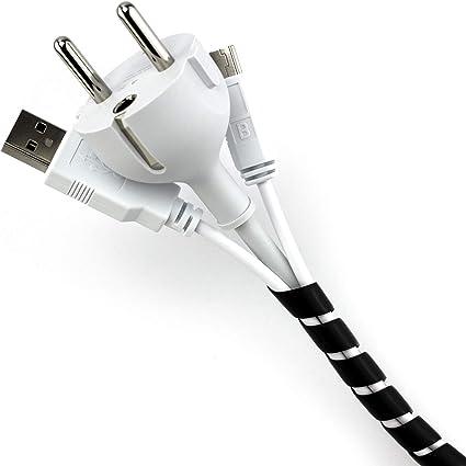 Purovi® Organizador de Cables en Espiral   Longitud 10 m   Tubo ...