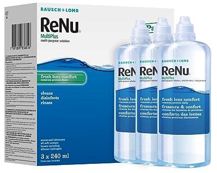 7dbfae5c70 Bausch + Lomb ReNu MultiPlus solución multiusos, 240 ml, pack de 2 ...