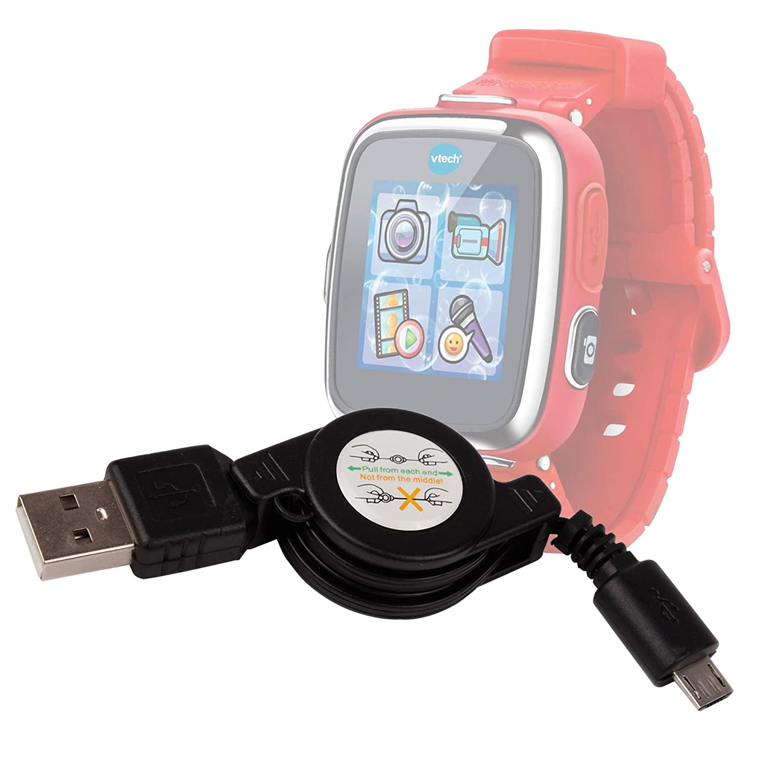 Cable retráctil Compatible con VTECH Kidizoom Smartwatch Connect ...