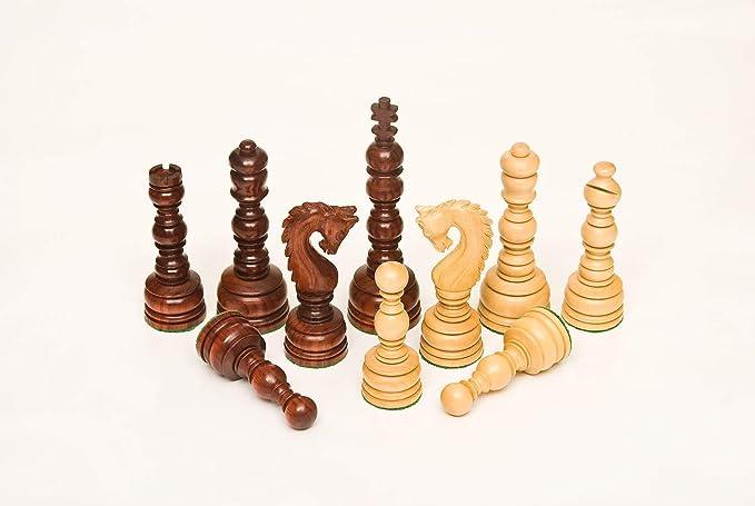135BR Bud Rosewood & Boxwood 5.00 Chess Set
