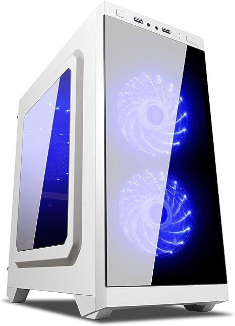 UNYKAch Armor C21 Torre Blanco Carcasa de Ordenador - Caja de Ordenador (Torre, PC, SPCC, Micro-ATX, Blanco, 0,5 mm): Unyka: Amazon.es: Informática