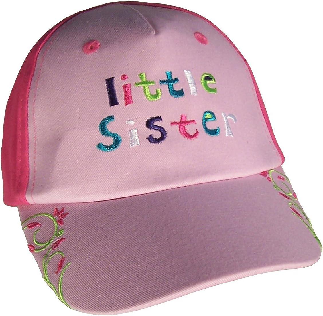 N 'iceキャップベビーガールズキュート刺繍キャップ ピンク/Fuchsia Little Sister 12-24 Months