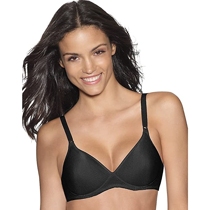 7d9cca6014ffe Hanes Womens Fully Padded Wirefree Bra(G308)-Black-34C at Amazon Women s  Clothing store