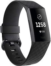 Fitbit Charge 3, Tracker Avanzato per Fitness e Benessere Unisex Adulto, Impermeabile fino a 50 m, Grafite/Nero, Taglia Unica