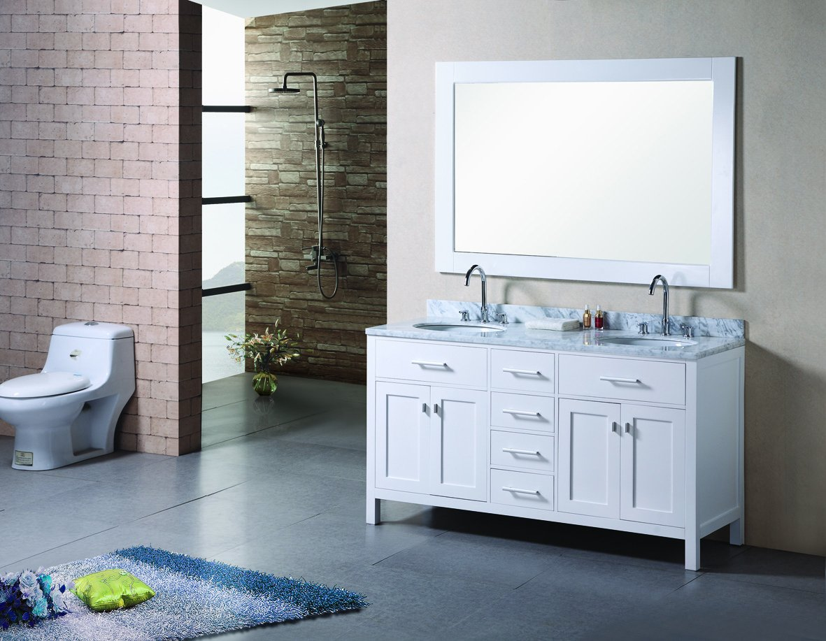 Design Element DEC076B London 72-Inch Double Sink Vanity Set in ...