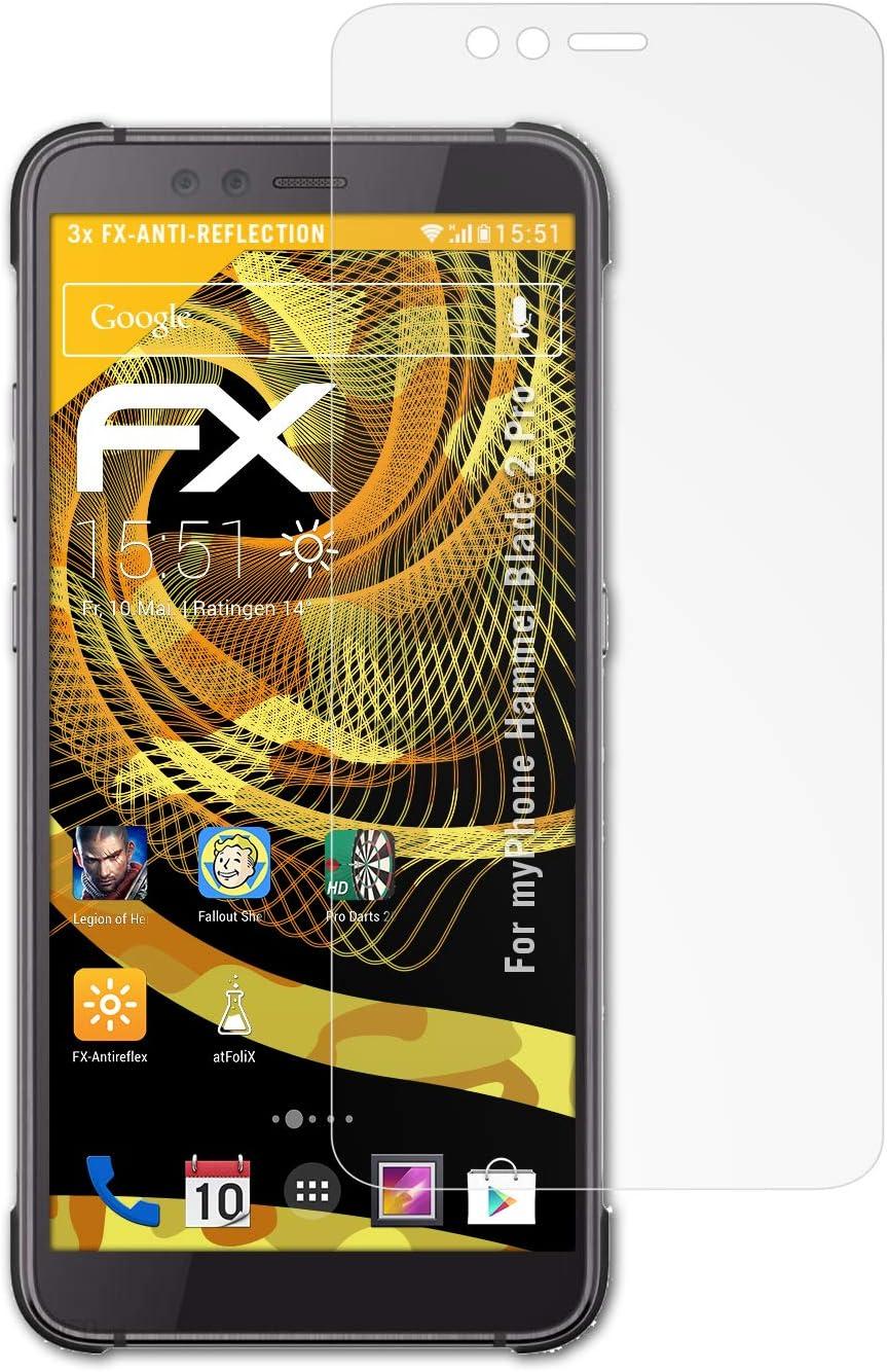 atFoliX Película Protectora para myPhone Hammer Blade 2 Pro Lámina ...