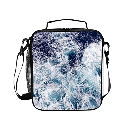 2d6bedf08f72 Amazon.com: White Torrent Lunch Tote Soft Bag Cooler Box Lunchbox ...