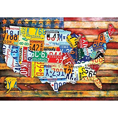 Children Jigsaw Puzzle 1000 Pieces Map United States Adults Wooden Puzzle Leisure Creative Puzzle Games Art Toys Puzzles: Toys & Games