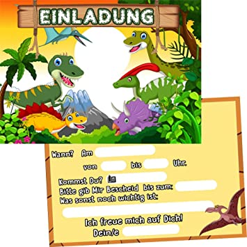 Schön German Trendseller 6 X Einladungskarten   Dino Party   ┃ Kindergeburtstag ┃  Mitgebsel ┃ Dinosaurier