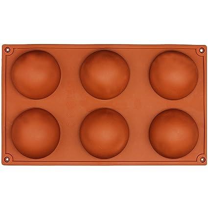 NaiseCore - Molde de silicona para horno, 6 agujeros, 29,5 x 17