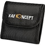 K&F Concept フィルターケース 3枚用 フィルターケース カメラ 一眼レフ フィルターレンズケース フィルターレンズポーチ フィルターソフトケース 82mmまでのフィルター径に対応 手入れ 保管 管理用品