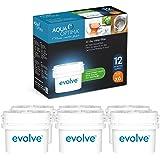 Aqua Optima Evolve confezione 12 mesi, 6 filtri per acqua x 60 giorni - adatto *BRITA Maxtra (non *Maxtra+) - EVD602