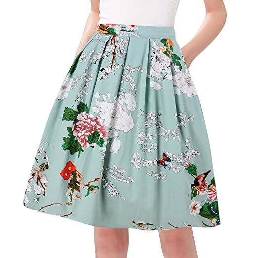 f23555ae89 Amazon.com: Taydey A-Line Pleated Vintage Skirts for Women: Clothing