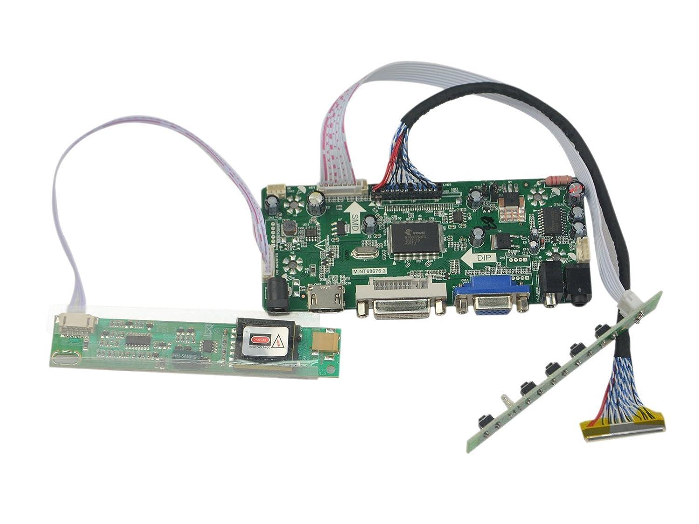 NJYTouch M NT68676 2A HDMI DVI VGA Audio LCD Controller Board for  LTN170X2-L01 LTN170X2-L02 LTN170X2-L03 LTN170WX-L05 1440x900