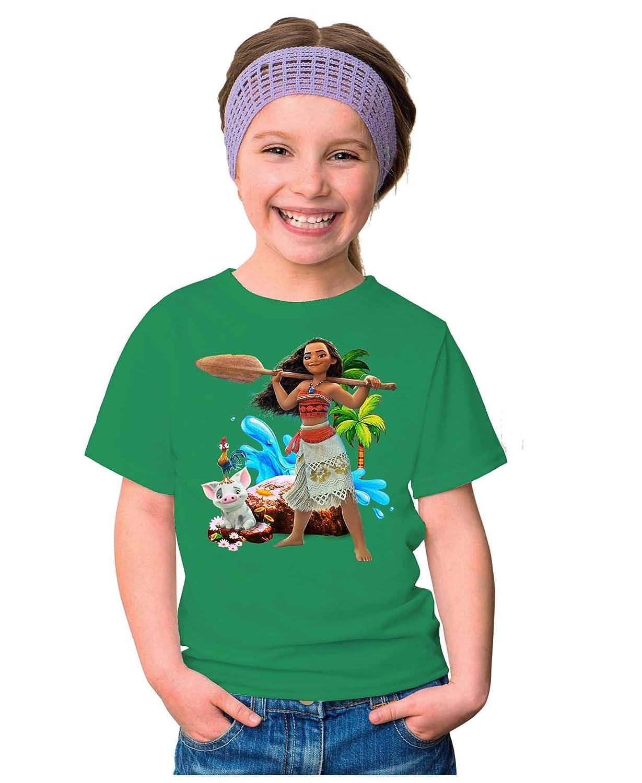 MININ Childrens Moana Pure Color Short Sleeves T-Shirt