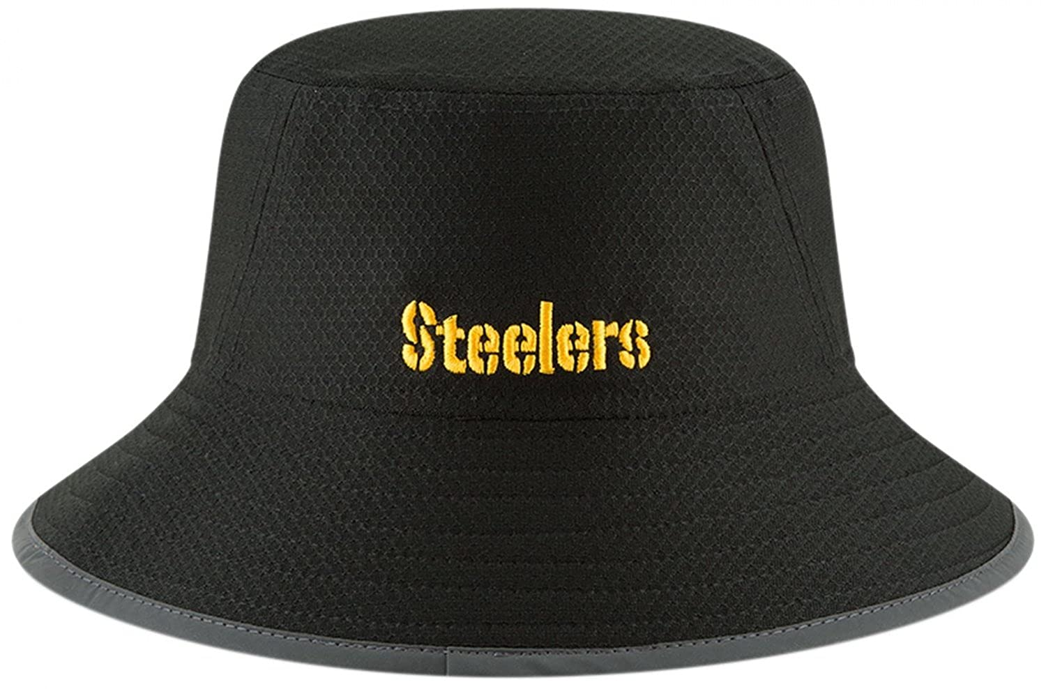 Amazon.com  Pittsburgh Steelers New Era 2018 Training Camp Primary Bucket  Hat Black  Clothing 8020b3cd0