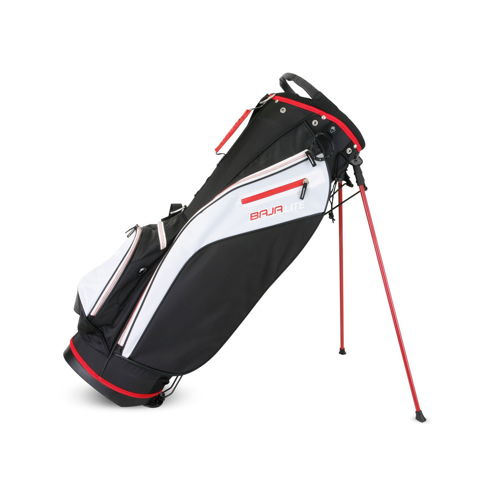Sahara Baja Lite Golf Stand Bag, Black/White/Red