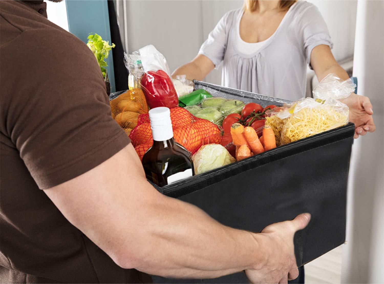 Cosanter Bolsa de Almuerzo de Comida con Aislamiento del Chiller Bolsa de Dise/ño de Flores Para Los Mantiene Los Alimentos Frescos Bebidas Fr/ía