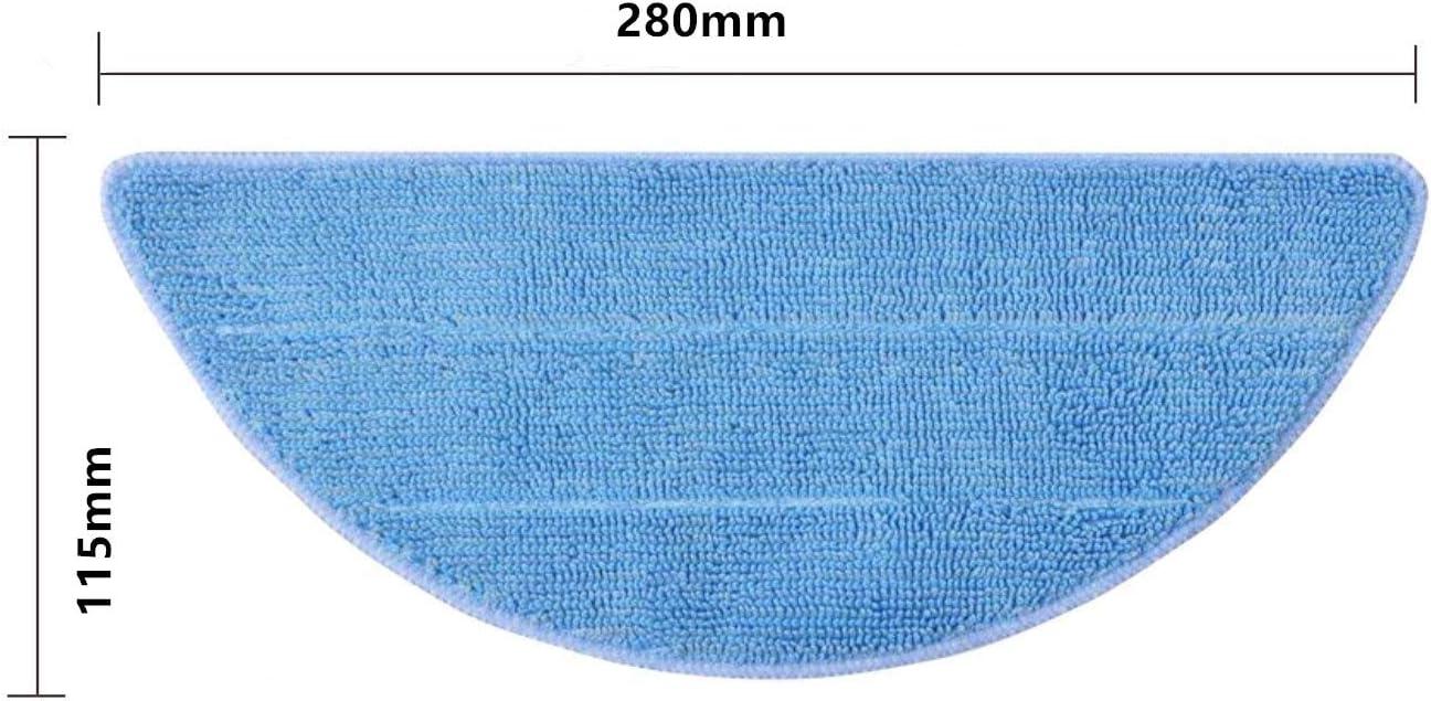 Material Premium paquete de 3-280 x 115 mm Mopa de repuesto para Conga Excellence y ILIFE V3 V3s V5 V5s V5s pro Accesorios de Robotic Aspiradora Lavables Recambios de Pa/ños