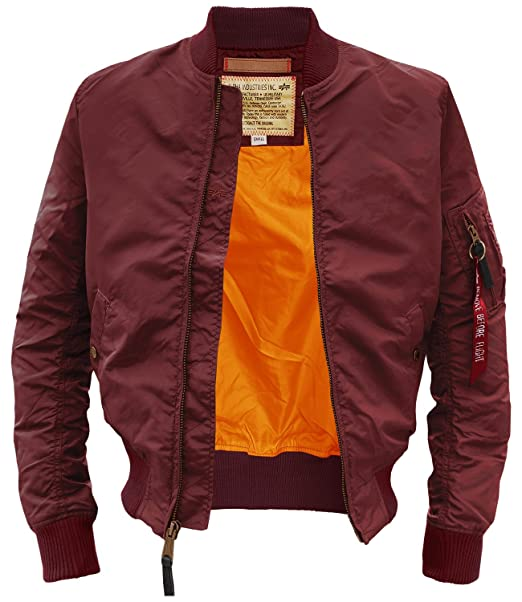 Alpha Industries - Chaqueta - Blusa - Básico - Manga Larga - para Hombre Granate Small