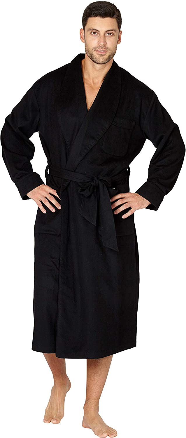 Mens Silk Lined Wool & Cashmere Robe