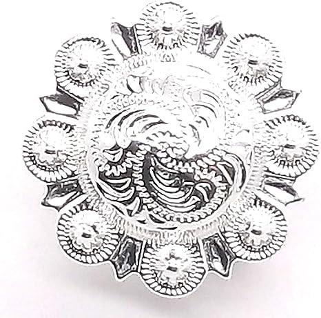 """Small Sheridan Carving Concho Snap Cap Nickel 3//4/"""" 1265-94"""