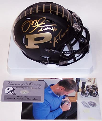 Image Unavailable. Image not available for. Color  Mike Alstott Autographed  Hand Signed Matte Black ... 1974a8518