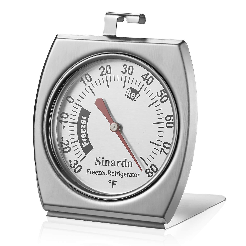 Sinardo Classic Series Large Dial Refrigerator Fridge Freezer Thermometer