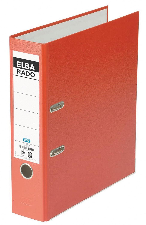 Elba rado-Lux Brillant 10417RO - Archivador (A4), color rojo: Amazon.es: Oficina y papelería