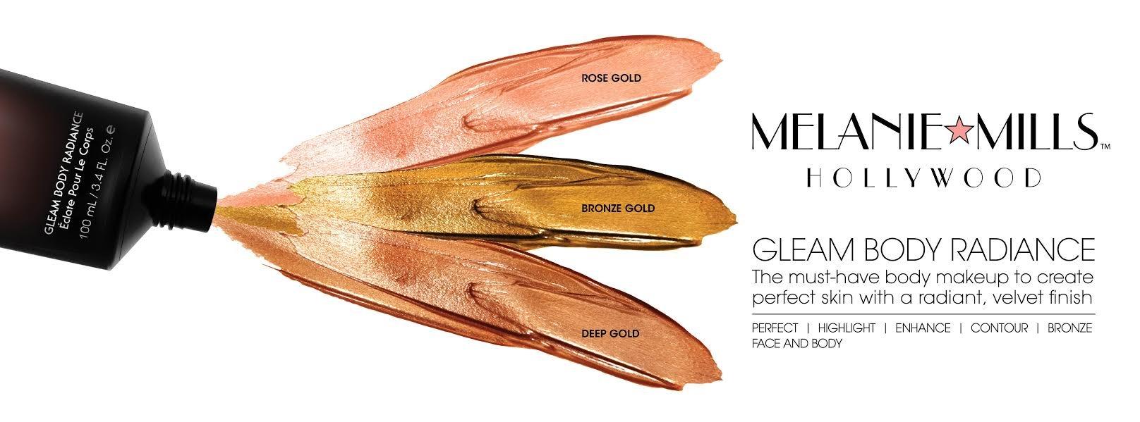 Melanie Mills Hollywood Moisturizing Gleam Body Radiance - Deep Gold, 1 fl.oz.