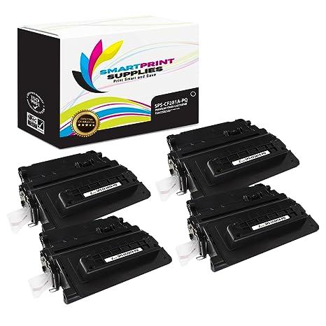 Amazon.com: Impresión suministros 81 A CF281 A paquete de 4 ...