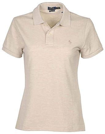 e21baf64 Polo Ralph Lauren Women's Skinny Fit Polo Shirt (Small, Dune Tan (Dune Tan
